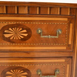 Pair of Antique Neoclassical Inlaid Bedside Chests