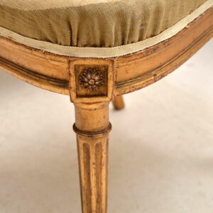 Pair of Antique French Gilt Wood Side Chairs
