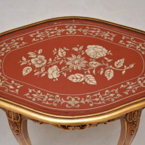 Pair of Antique French Style Gilt Wood Side Tables