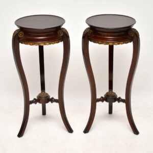 Pair of Antique French Mahogany Side Tables