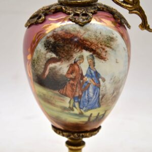 Pair of Antique French Porcelain Lamps