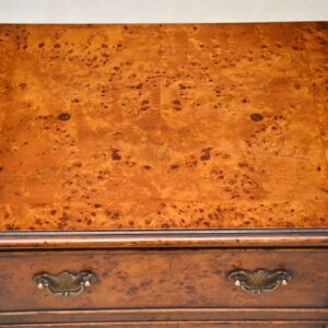 Pair of Antique Burr Walnut Bedside Chests