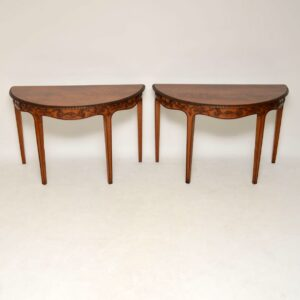 Pair of Antique Georgian Mahogany Console Tables