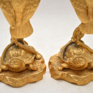 Pair of Antique Gilt Bronze Candlesticks
