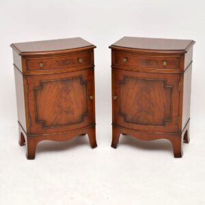 Pair of Antique Georgian Style Mahogany Bedside Cabinets