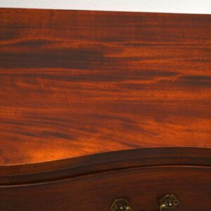 Pair of Antique Mahogany Serpentine Fronted Chests
