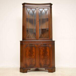 Pair of Antique Georgian Style Mahogany Corner Cabinets