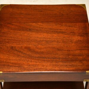 Pair of Antique Mahogany Military Campaign Side Tables