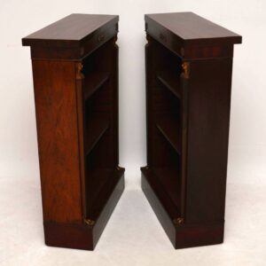 Pair of Antique Mahogany Open Bookcases