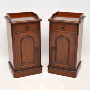 Pair of Antique Victorian Mahogany Bedside Cabinets