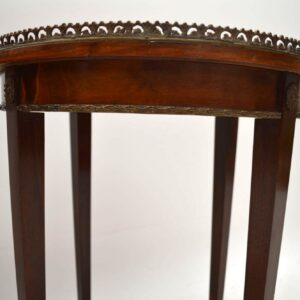 Pair of French Antique Inlaid Rosewood Side Tables