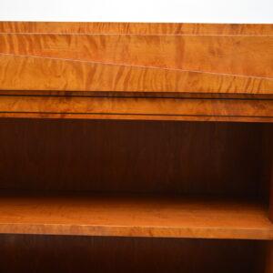 Pair of Antique Swedish Biedermeier Satin Birch Open Bookcases