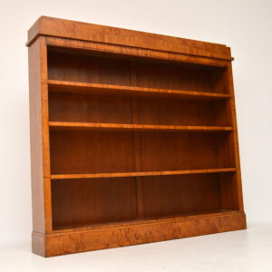 Pair of Antique Swedish Biedermeier Satin Birch Open Bookcases
