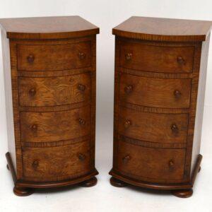 Pair of Antique Victorian Pollard Oak Bedside Chests