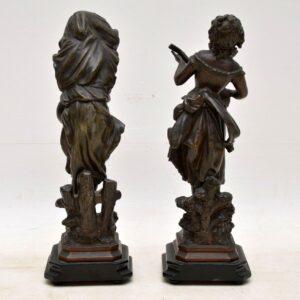 Pair of Antique Victorian Spelter Figurines