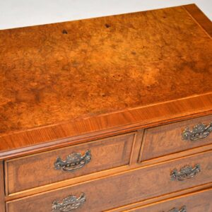 Pair of Antique Georgian Style Burr Walnut Chest of Drawers