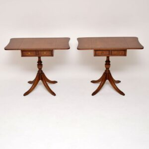 Pair of Antique Regency Style Walnut Side Tables