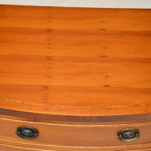 Pair of Antique Georgian Style Yew Wood Bedside Chests