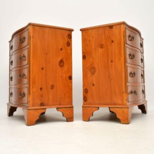 Pair of Antique Yew Wood Chest of Drawers