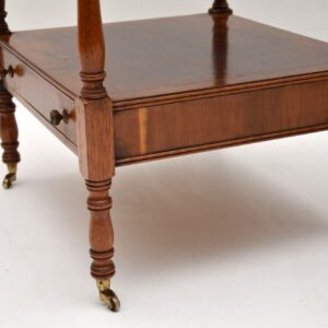 Pair of Antique Yew Wood Side Tables