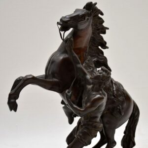 Pair of Antique 19th Century Bronze Sculptures by Guillaume Coustou