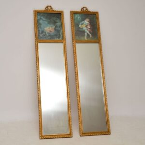Pair of Antique Decorative Gilt Wood Mirrors