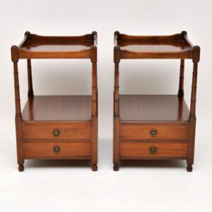 Pair of Antique Mahogany Bedside / Side Tables