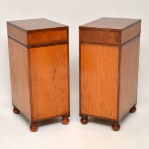 Pair of Antique Mahogany Military Campaign Bedside Chests