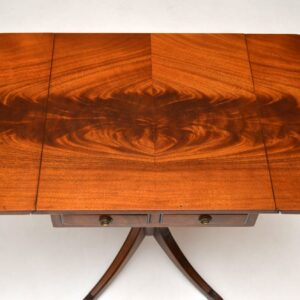 Pair of Antique Regency Style Mahogany Side Tables