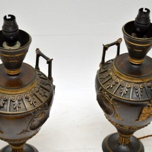 Pair of Antique Neo-Classical Bronze Table Lamps