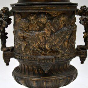 Pair of Antique Neo-Classical Bronze Urns