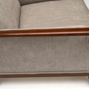 Pair of Antique Swedish Upholstered Mahogany Armchairs