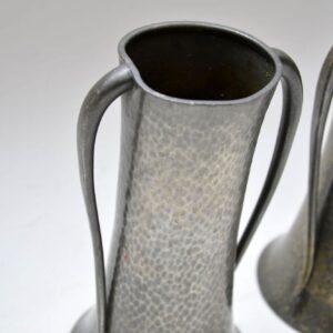 Pair of Pewter Vases by Walker & Co