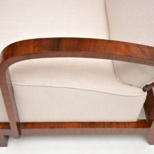 Pair of Swedish Art Deco Walnut Armchairs