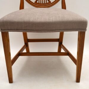 Set of 10 Antique Mahogany Shield Back Dining Chairs