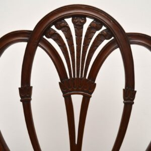 Set of 8 Antique Mahogany Dining Chairs