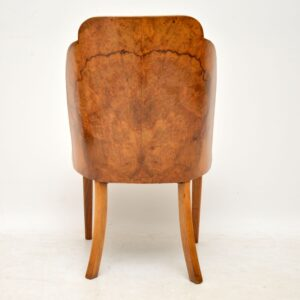 Set of 4 Art Deco Burr Walnut Cloud Back Dining Chairs