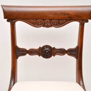Set of 6 Antique Rosewood William IV Dining Chairs