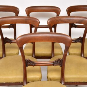 Set of 6 Antique William IV Mahogany Dining Chairs