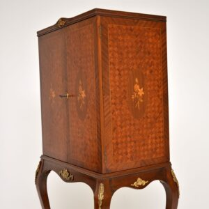 Antique French Parquetry Cocktail Drinks Cabinet