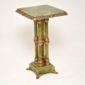 antique marble onyx cloissone table