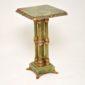 antique marble onyx cloissone table