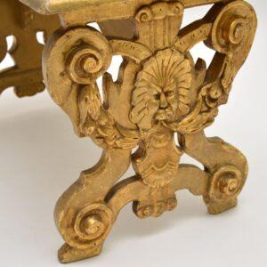 antique italian gilt wood stool