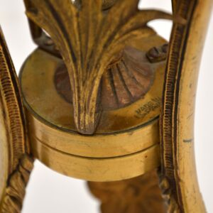 Antique Brass Glass Top Side Table