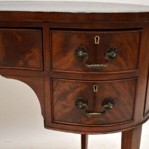 antique edwardian mahogany leather kidney desk writing table