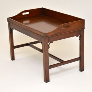 antique mahogany tray top coffee table