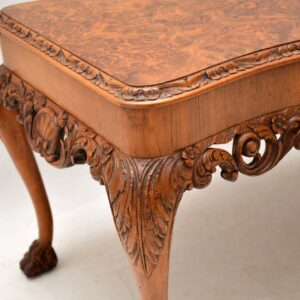 antique burr walnut queen anne coffee table