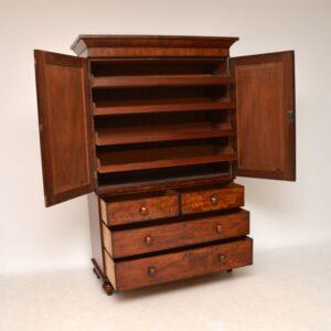 antique victorian mahogany linen press wardrobe