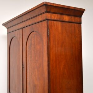 antique victorian mahogany linen press wardrobe