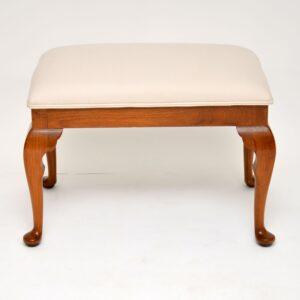 antique walnut foot stool